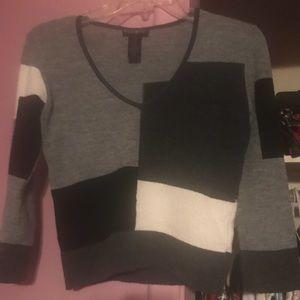 Bebe color block sweater
